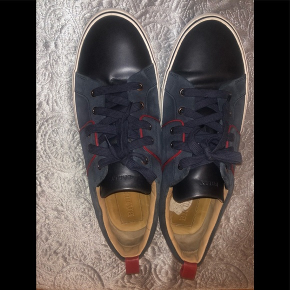 Bally Shoes   Navy Blue Bally Sneakers